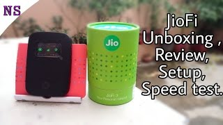 JioFi 3 Unboxing ,Review , Setup and Speed test || Hindi .