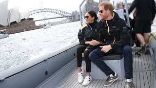 Prince Harry gets protective of pregnant Meghan when an American sailor gives bear hugs