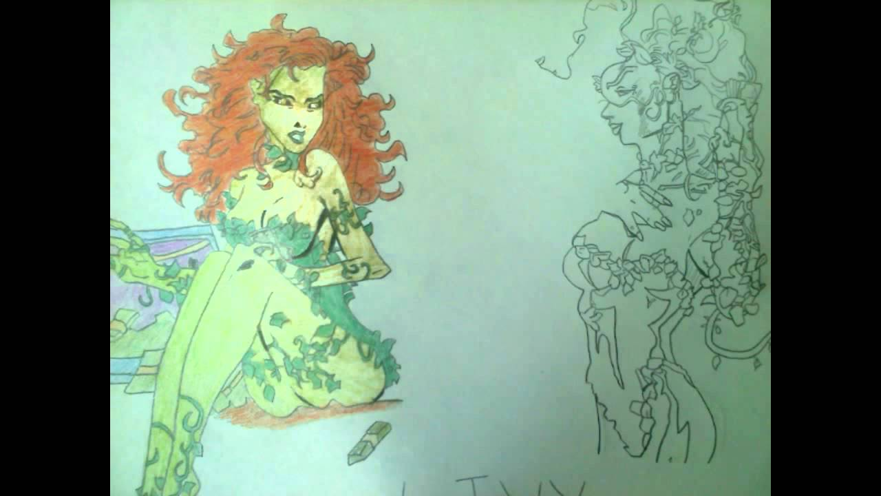 poison ivy from batman drawing  fast mode