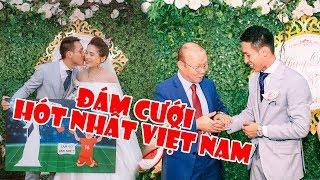 TVH Vlogs   Cùng thầy Park Hang Seo, Quang Hải, Văn Hậu ĐT Việt Nam đi ăn cưới Đỗ Hùng Dũng cực ngầu