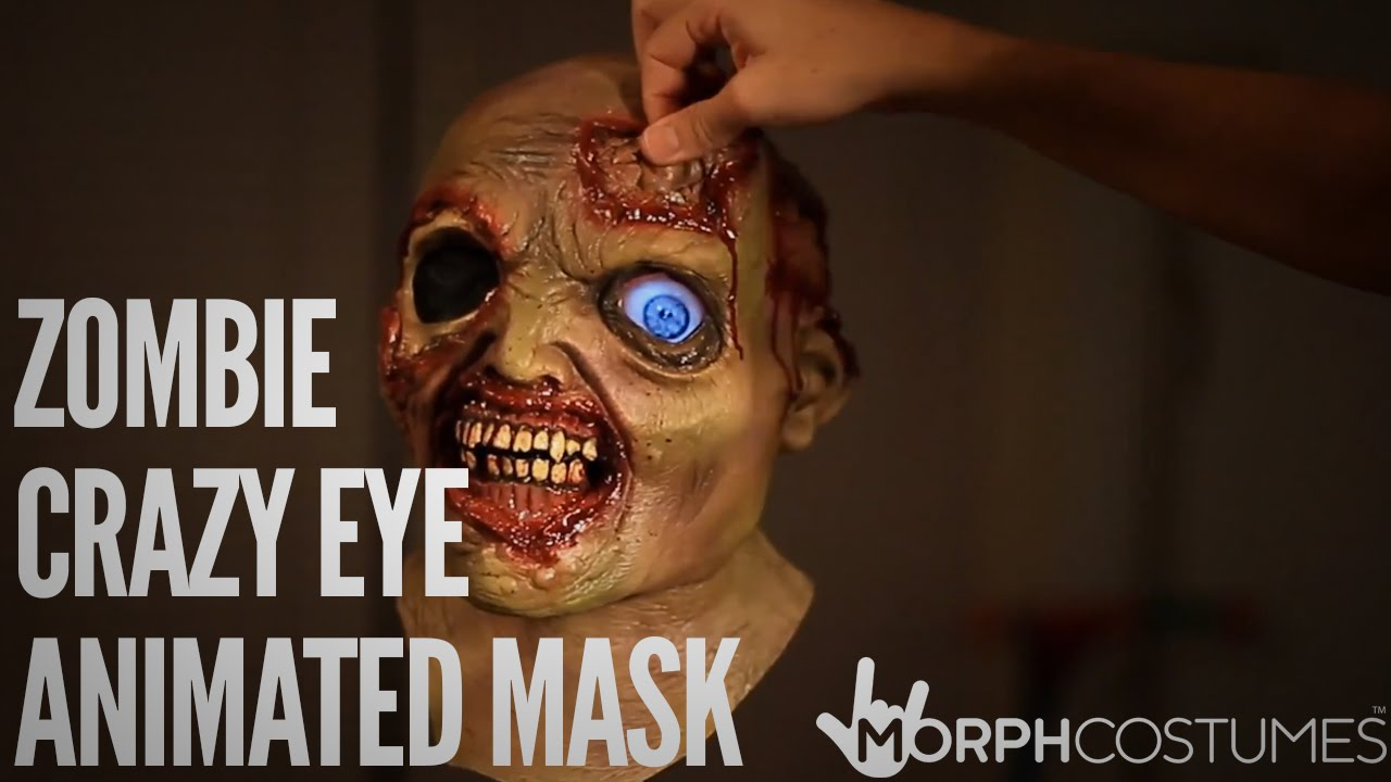 Zombie Eye Mask Zombie Crazy Eye Animated