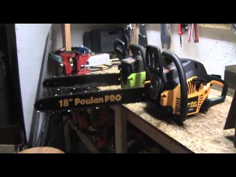 Poulan Pro chainsaw review and start!