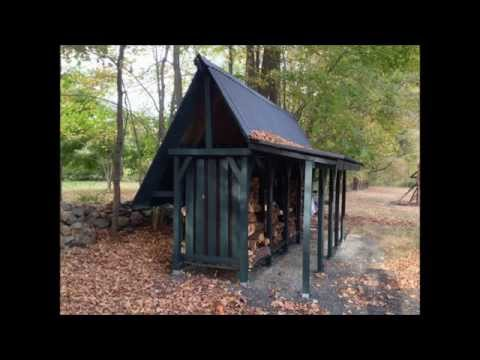 How To Build A Firewood Storage Shed - Time Lapse