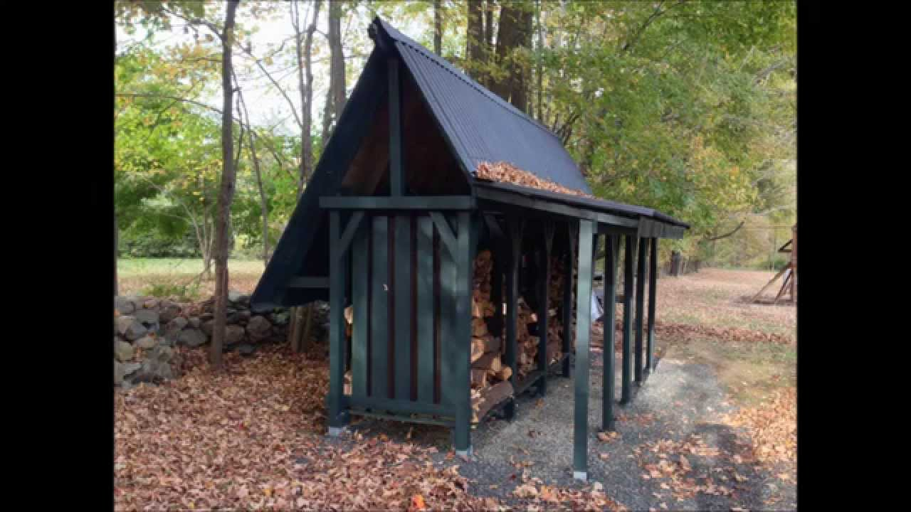 How To Build A Firewood Storage Shed Time Lapse YouTube