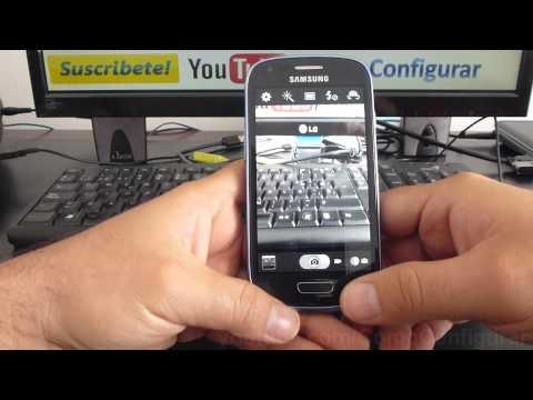 Como quitarle el sonido de la cámara celular samsung galaxy S3 mini i8190 español Full HD