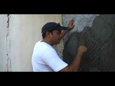 How to make   أحمد العزاني   كيف تصنع جدارية   نحت Music Videos