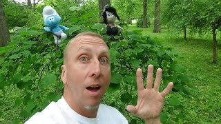 "Smurf Hunting At Park with Freak Daddy ""Toy Freaks Hidden Smurfs Eggs"""