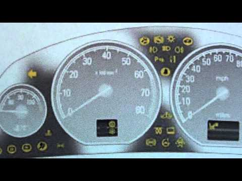 Vauxhall Opel Vectra C Dashboard Warning Lights & Symbols