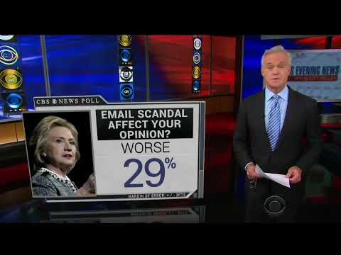 """CBS Evening News: Email Scandal """"Taking A Toll"""" On Clinton"""