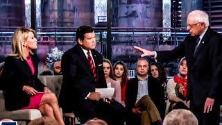 Fox Hosts Melt Down As Bernie Continually Owns Them During Town Hall