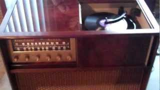 Here is my 1957 High Fidelity Magnificent Magnavox Playing some 50's 78's
