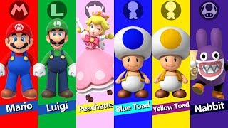 New Super Mario Bros U Deluxe - All Characters