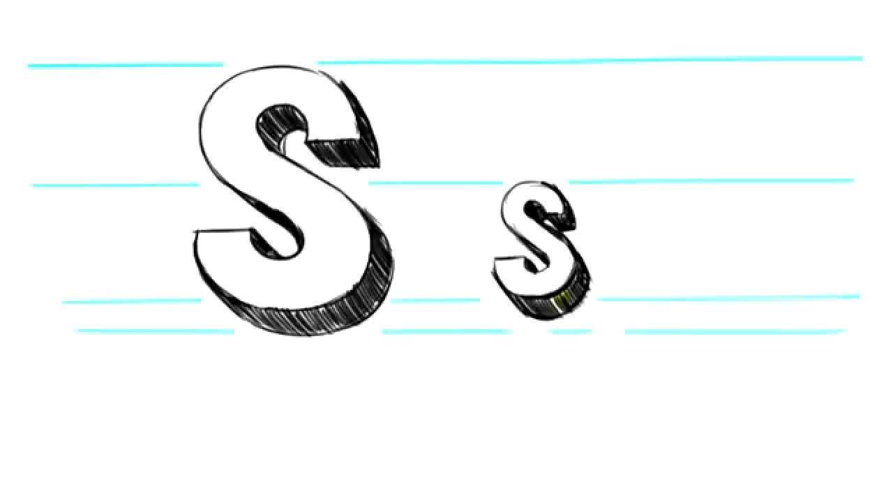 Uppercase S 3D Letters S - Uppercase S