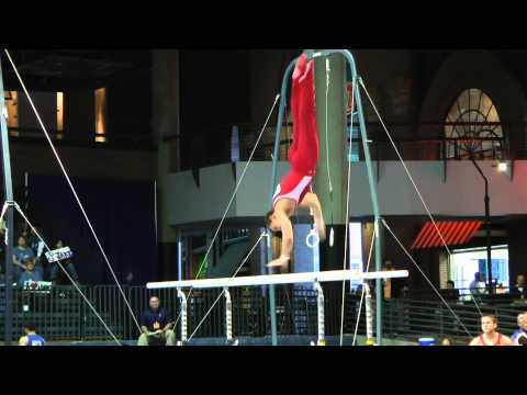 Dylan Akers - Parallel Bars - 2012 Winter Cup Prelims