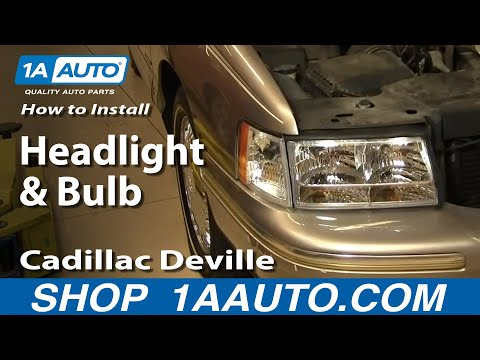 How To Install Replace Headlight and Bulb Cadillac Deville 97-99 1AAuto.com