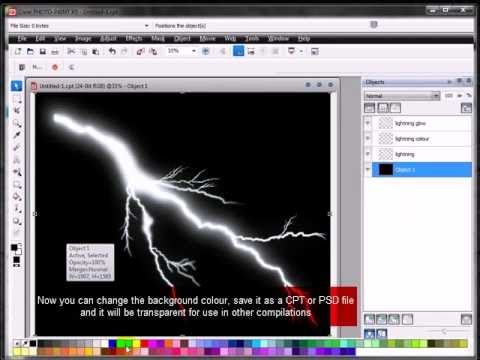 How to create lightning in Corel Draw/Paint X5