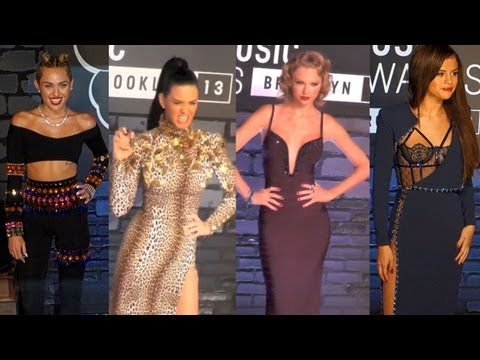 2013 MTV VMA Red Carpet Arrivals: Miley Cyrus, Katy Perry, Taylor Swift & Selena Gomez