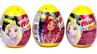 3 Surprise Eggs Mia and Me Surprise Plastic Egg for babies and children