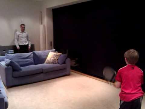 8 year old Joe,  Roger Federer Trick Shot