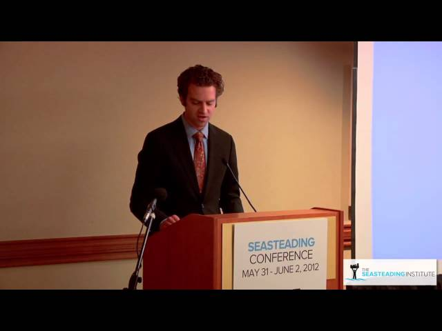 Jonathan Cain gives his closing remarks at the Seasteading Conference 2012