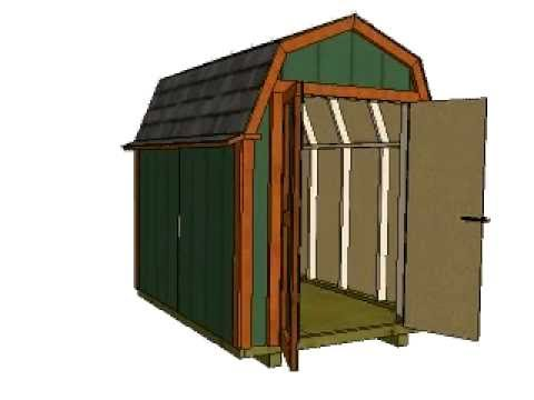 6x8 Barn Plans Gambrel Shed Plans Small Barn Plans YouTube