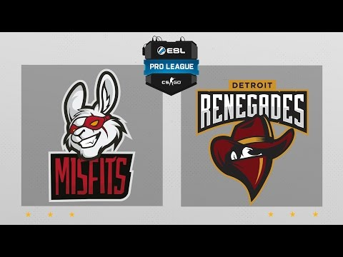 CS:GO - Misfits vs. Renegades [Train] Map 1 - ESL Pro League Season 5 - NA Matchday 26