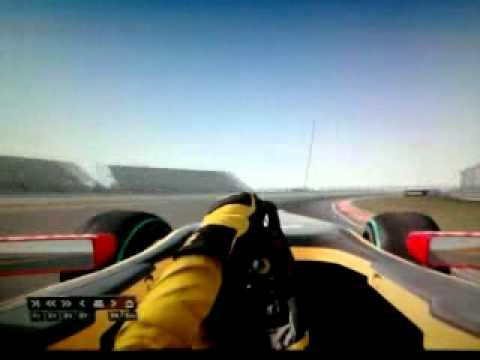 Формула 1 2010 китай вид из кокпита