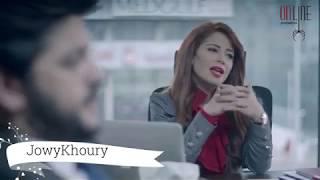 مسلسل علاقات خاصة - لمار كتبت بوست عالفيس بوك رح يأكد شكوك زوجها - جوي خوري وطوني عيسى