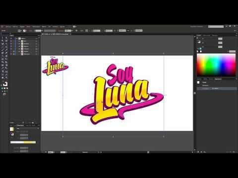 Logo Soy Luna - Usando una plantilla de FACIL EDICION en Illustrator