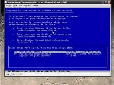 instalacion del sistema operativo xp 1