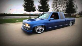 Chevy Silverado laying body on 22