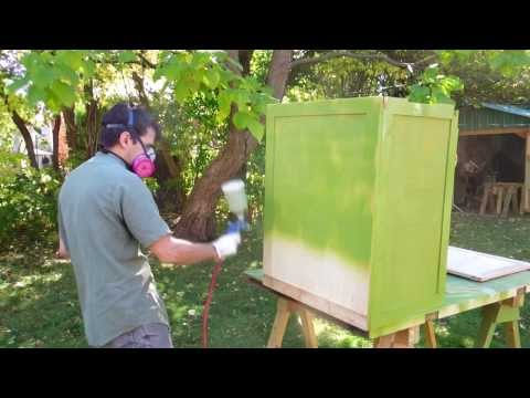 Painting the homemade table saw