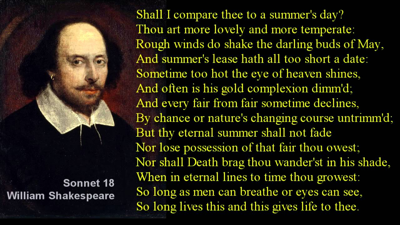 an analysis of the arrangement of shakespeares sonnet 18 Summary and analysis of sonnet 116 by william shakespeare  special for the arrangement of hard and soft consonants, illiteration and enjambment:  full analysis .