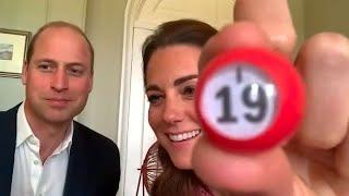video: Duke and Duchess of Cambridge turn bingo callers in virtual visit to care home