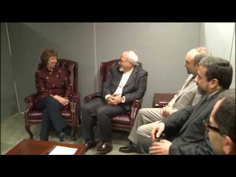 Catherine Ashton  with Iranian Foreign Affairs Minister Javad Zarif