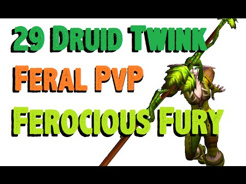 Lunarica - Level 29 Feral Druid Twink Pvp - Wod Patch 6.0.3 video
