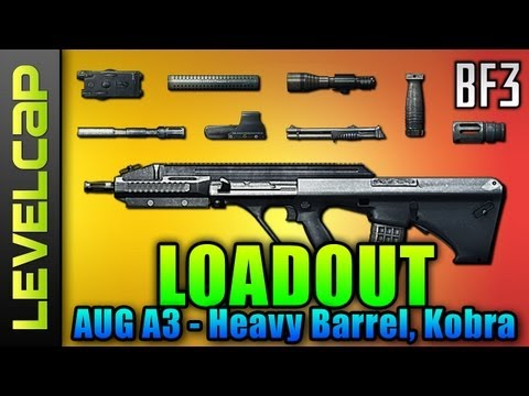 Loadout - AUG A3, Heavy Barrel, Kobra (Battlefield 3 Gameplay/Commentary/Review)