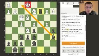 Шахматы на chess.com. Интересная позиционная жертва ферзя!