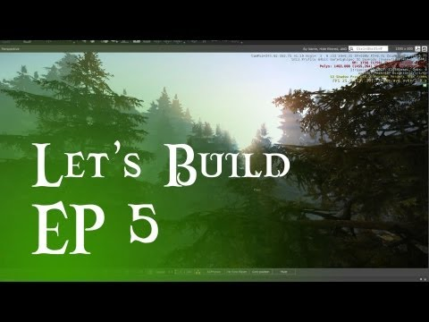 Let's Build #5 - Pine tree forest?! Also custom terrain