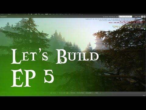Let's Build #5 - Pine tree forest?! Also custom terrain