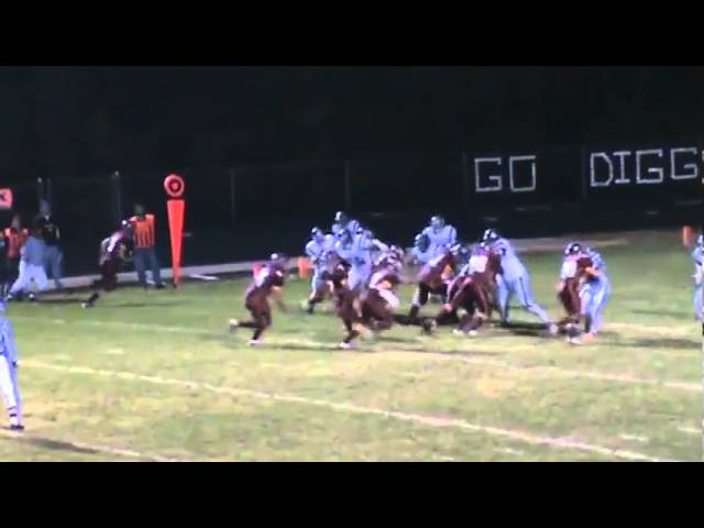 11-6-09 - Conner Weisser scores his 13th TD of the season (Brush 13, University 0)