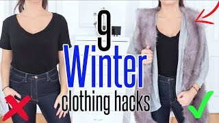 9 Winter CLOTHING HACKS  YOU NEED To KNOW !!