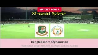 Bangladesh v Afghanistan, 7th ODI Match, ICC World Cup 2015, 18 Feb