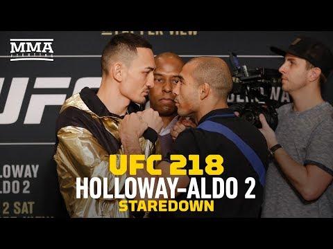 UFC 218: Max Holloway vs. Jose Aldo Staredown - MMA Fighting