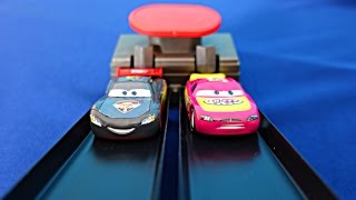 The Cars in English. Play set Disney Pixar Cars Double lane duel. Track set the cars