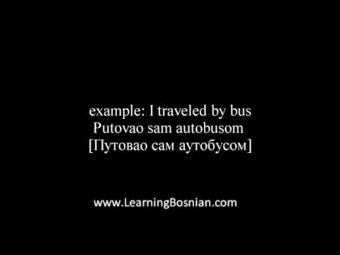 Learn Bosnian language - how to say car, bus, bus station