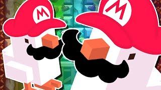 Super Mario Maker   AMAZING CROSSY ROAD COURSE!!