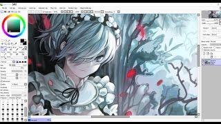 Anime / Manga Girl Speedpaint [ Re:Zero - Rem ] Fanart on PAINT TOOL SAI
