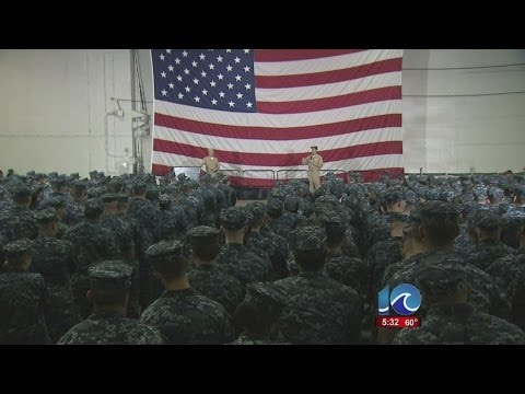 "USS George H.W. Bush ""All Hands"" Call"