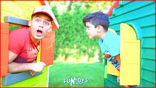 Jason Pretend Play with Magic Playhouse for kids, Funny video